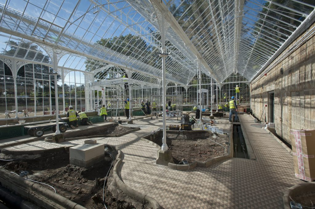 Wentworth glasshouse progress