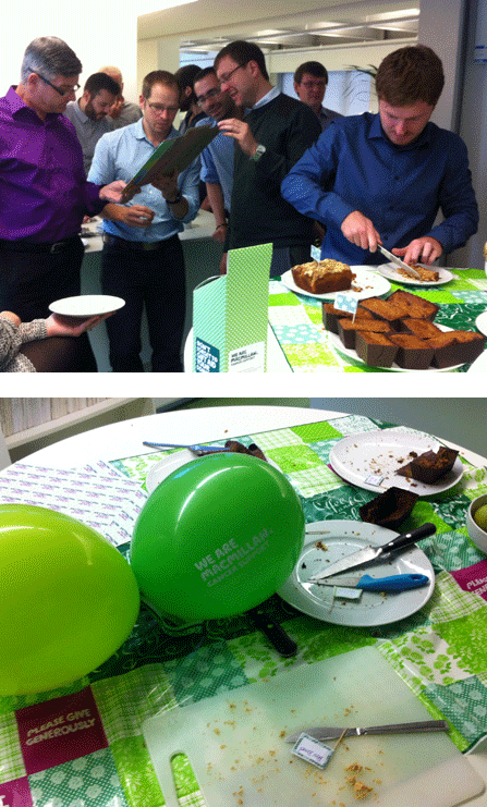 Buttress bakes for Macmillan | Buttress Architects
