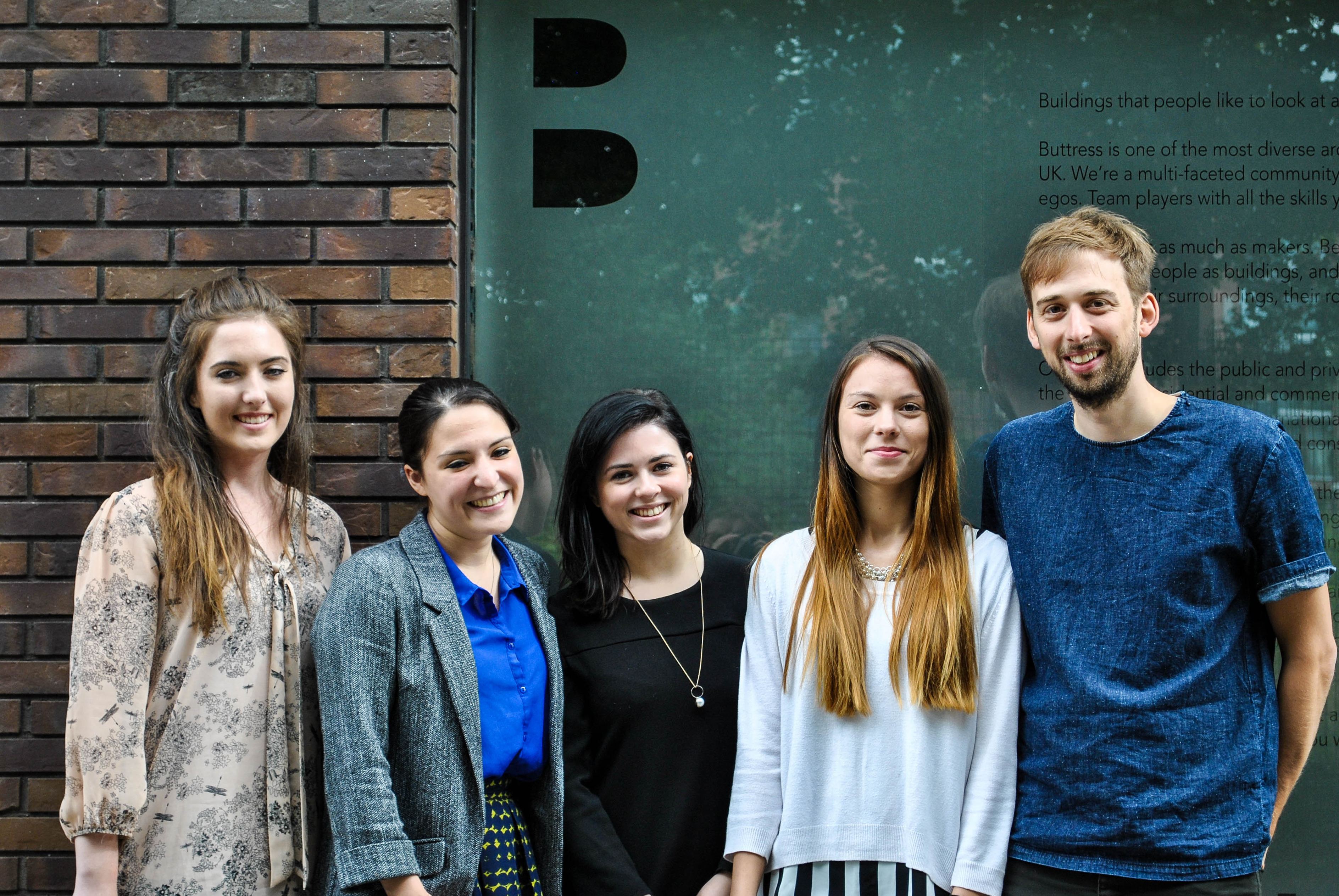 Buttress welcomes five new starters | Buttress Architects