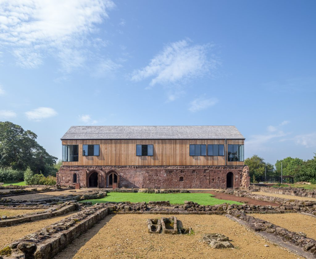 Norton Priory Museums and Gardens, a project by Buttress Architects