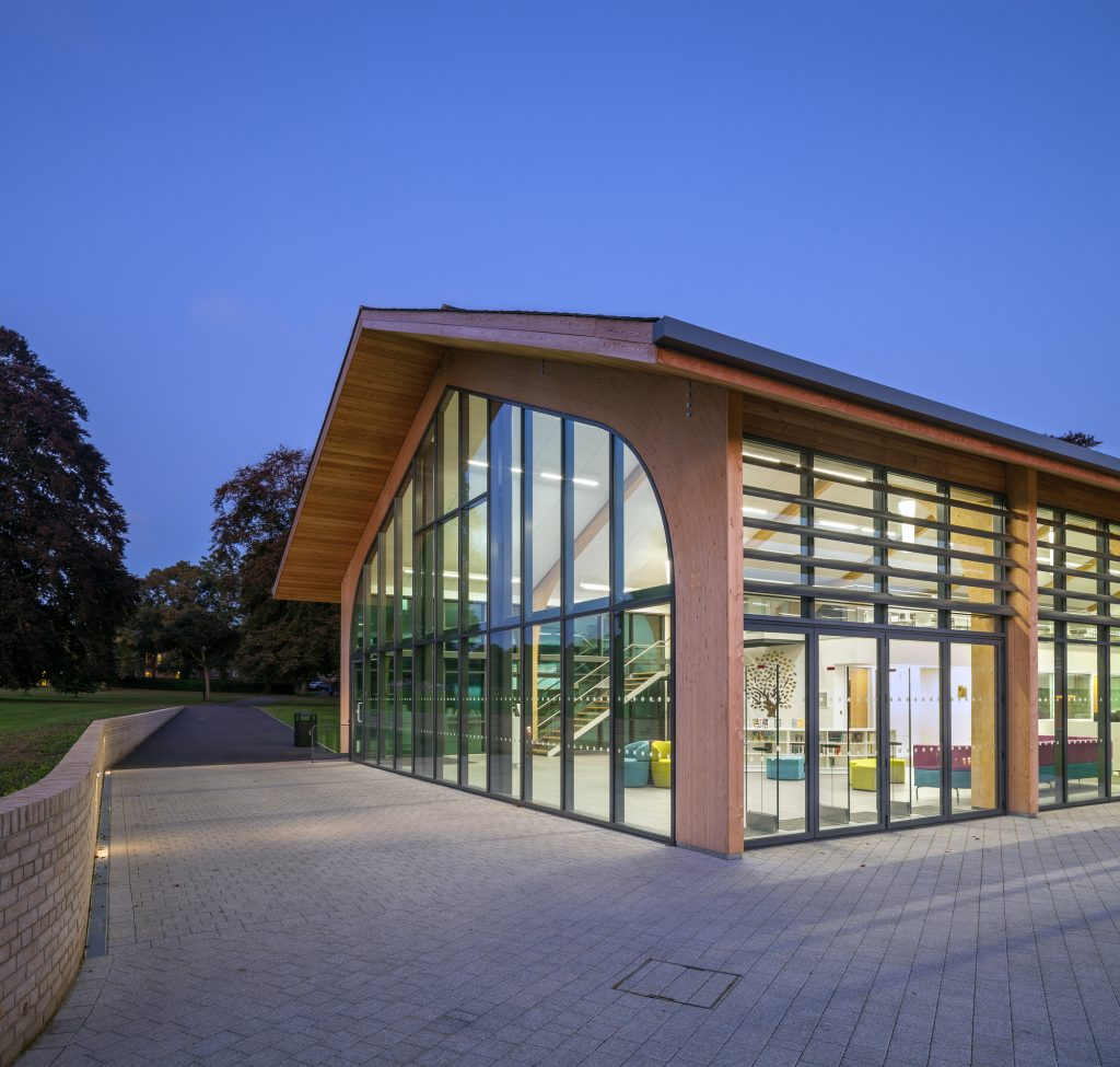 A learning resource centre for Culford School, designed by Buttress Architects