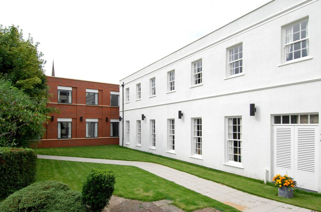 Monmouth School Sixth Form Boarding House, a project by Buttress Architects.