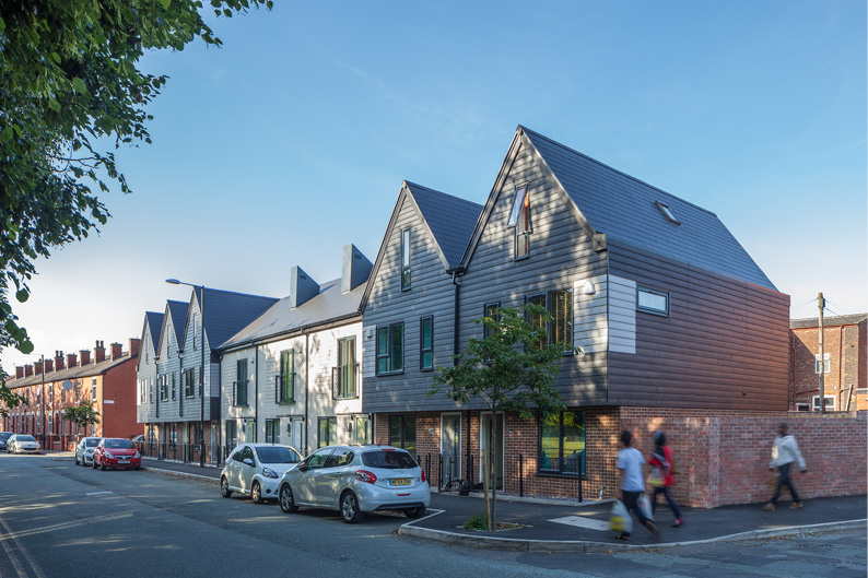 A new housing scheme, designed by Buttress Architects.