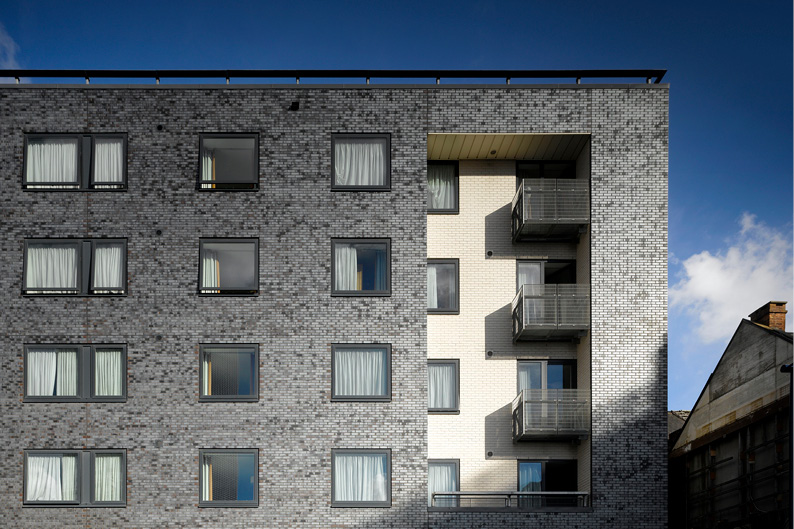 Icon 25, an apartment development in Manchester designed by Buttress Architects