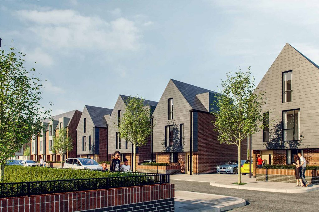 Stagecoach, a new residential development in Moss Side designed by Buttress Architects