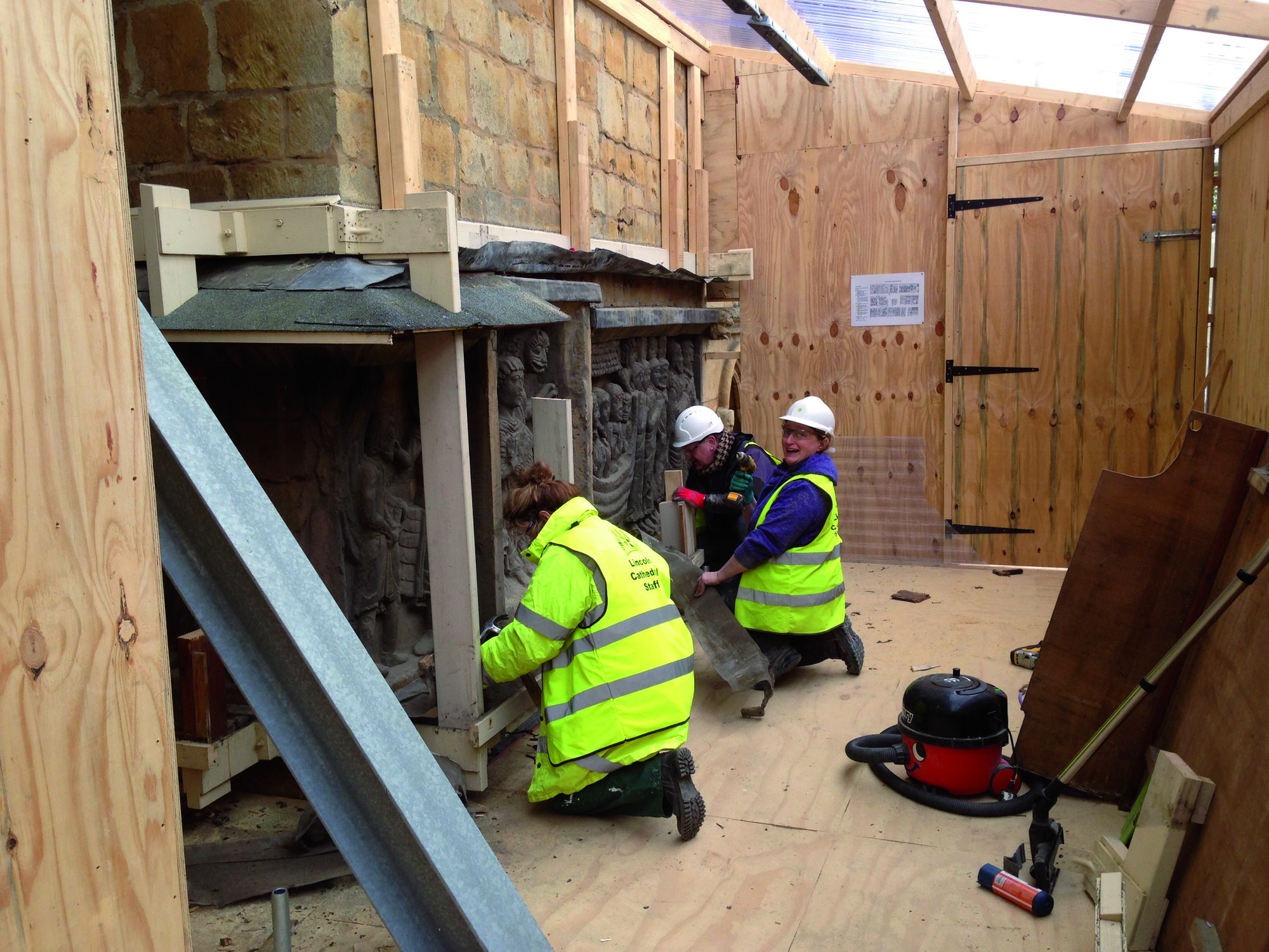 Conservation work begins on Lincoln Cathedral's West Front