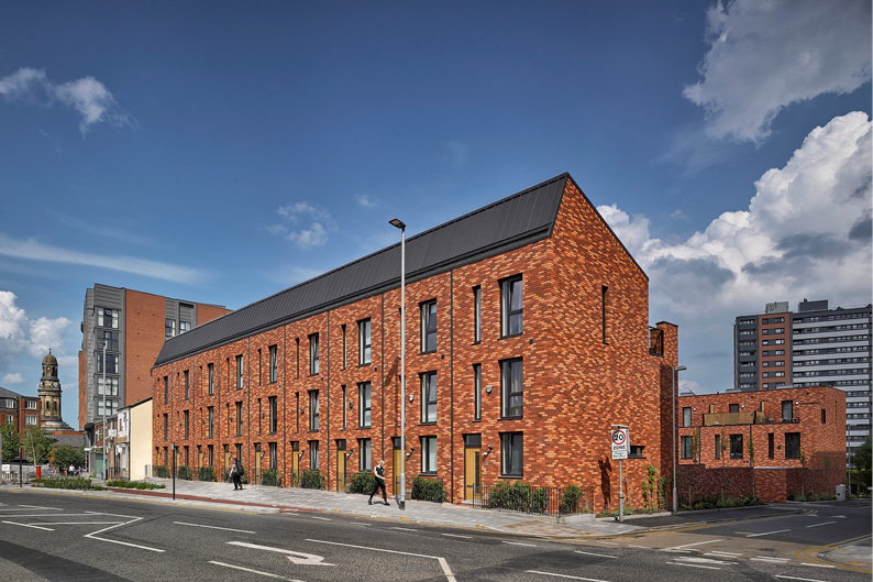 Townhouse scheme designed by Buttress Architects