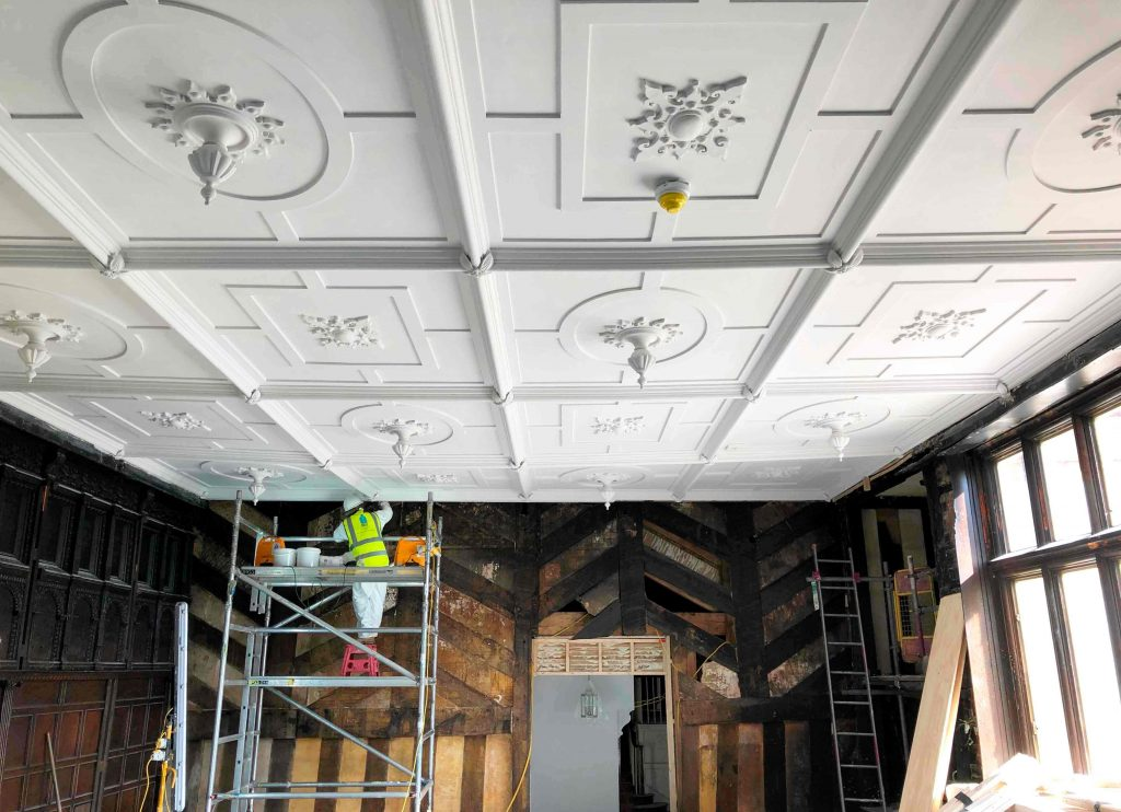 Restoring Wythenshawe Hall's Withdrawing Room ceiling