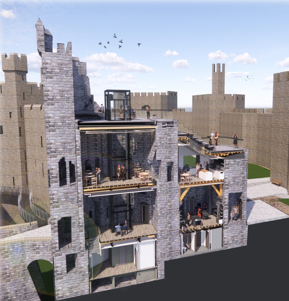 Plans in for King's Gate redevelopment at Caernarfon Castle
