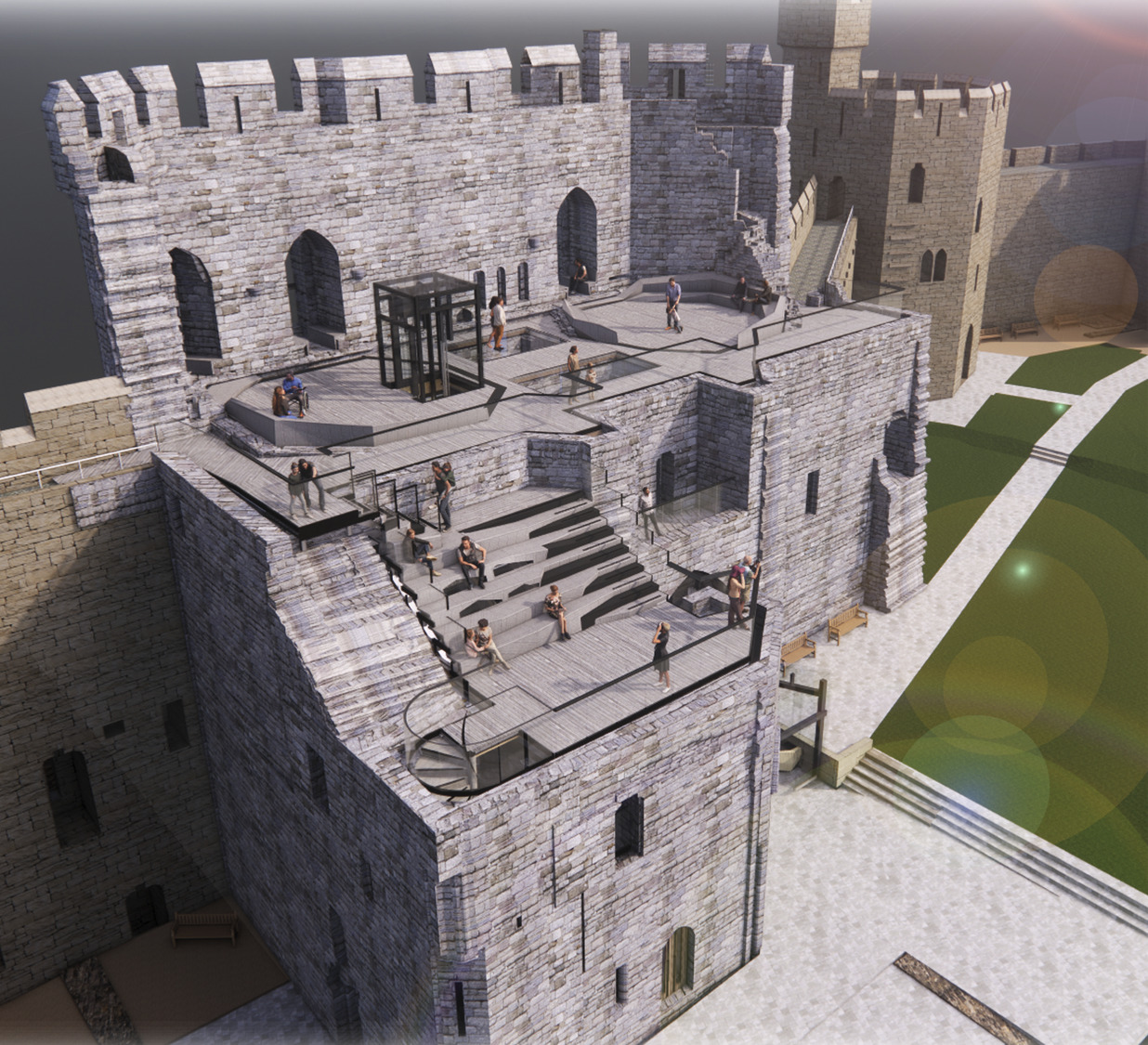 Pioneering plans approved for Caernarfon Castle's King's Gate