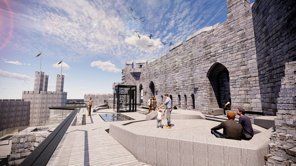 Pioneering plans approved for Caernarfon Castle's Kings Gate