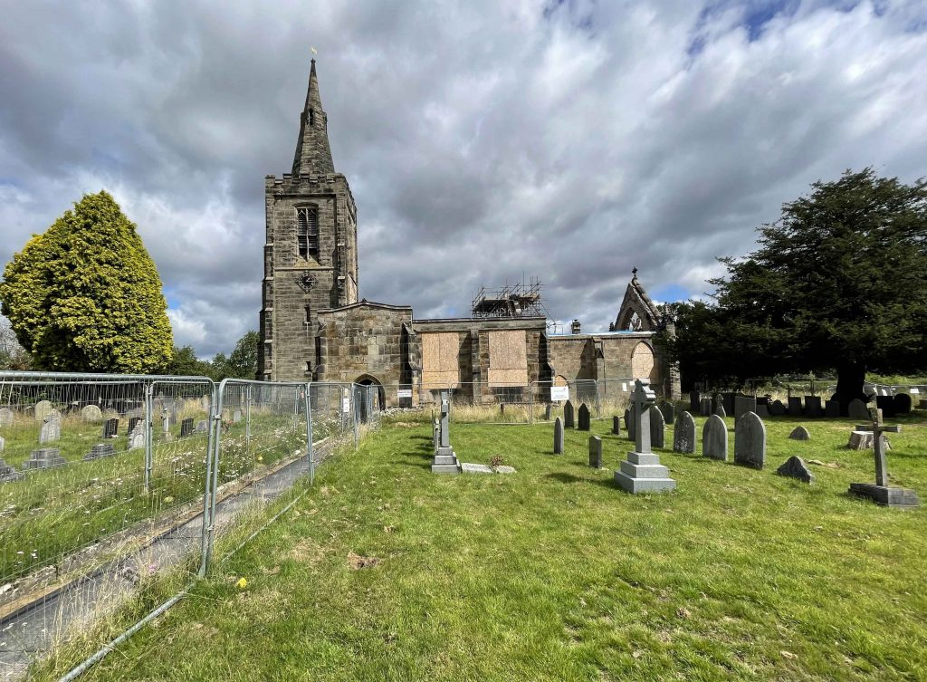 Buttress to restore Grade I listed All Saints', Mackworth